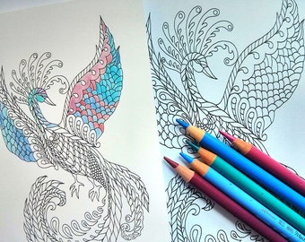 Colouring In Postcard Set - Colour Magic - Five Beautiful Designs - Adult Colouring - Coloring Activity