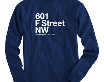 LS Washington D.C. Basketball Stadium Tee - Long Sleeve T-shirt - Men S M L XL 2x 3x 4x - DC Shirt, Arena, Fan, Sports - 4 Colors