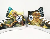 Example of Full painting converse, open in any design request, custom shoes, sneaker