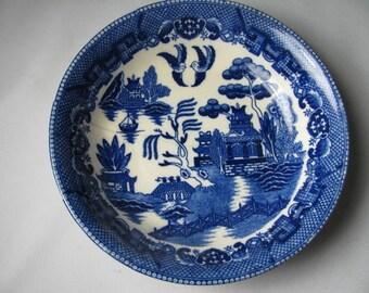 Vintage Blue Willow soup bowl