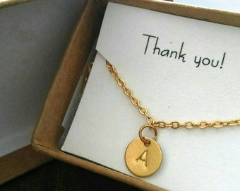 Thank you gift necklace