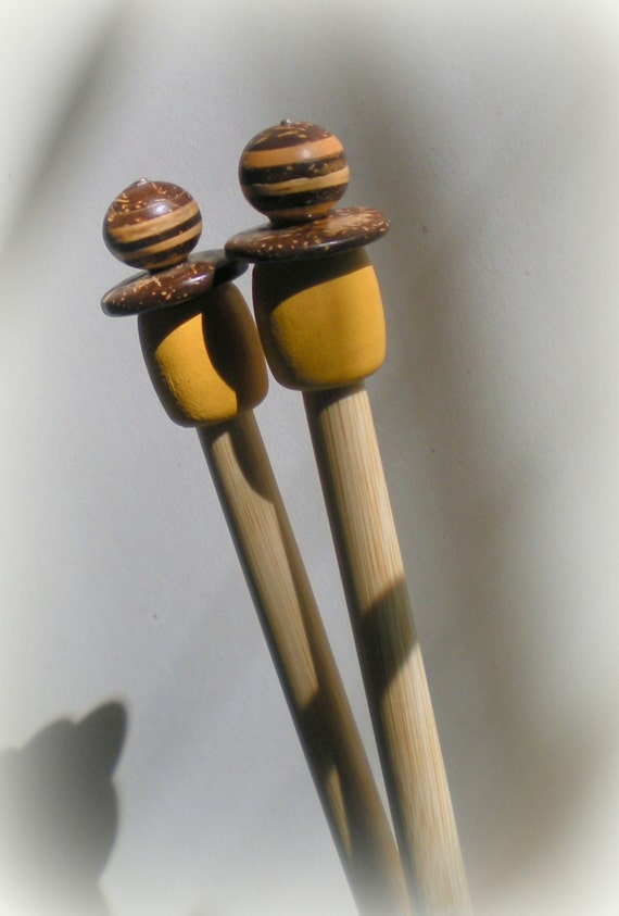 Drawing Knitting Needles : Wooden knitting needles size us from whatruknitting