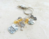 SALE - Beach Accessories - Beach Purse Jewelry - Dreaming of thr Sea - Car Keychain - Bead Keychain - Womens Keychain - Handbag Clip On