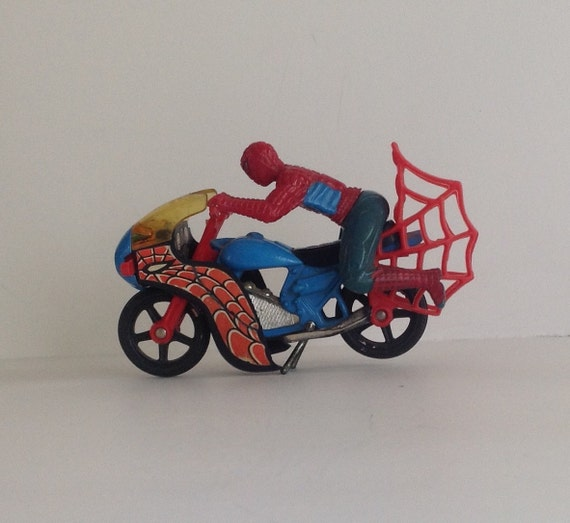 Vintage spiderman motorcycle early 1980s collectible toy - Spider man moto ...