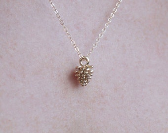 SALE!!! Gold Pine Cone Necklace , Delicate Everyday Necklace ,  Acorn Jewelry , Bridesmaids Necklace , Bridesmaids Gift