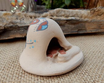 Jemez Pueblo, New Mexico Pottery Horno Oven  ~  Mariah Gonzales Age 6 Jemez Pueblo Pottery  ~  Jemez Pueblo, NM Handmade Horno Oven