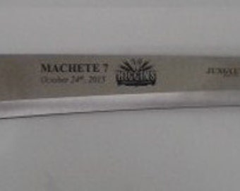 """Custom Laser Engraved 25"""" Jungle Master Machete 010"""