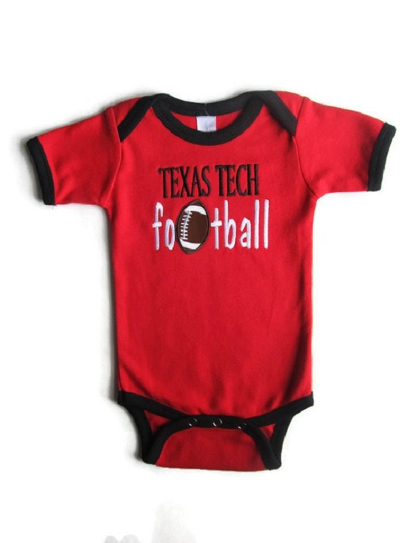Red and Black Football Bodysuit newborn baby baby t