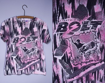 80s Lightning Bolt Skateboards Early Skateboarding T Shirt
