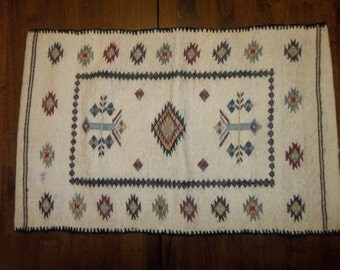 "American Indian Hand Woven Pillow Cover / Case..17"" by 27""...Perfect Cond....Authentic"