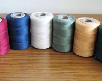 8  Vintage American Thread Company Star 3 Cord Cotton Thread Spools Assorted Colors Lot 2