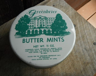 Vintage Candy Tin - The Greenbrier Resort Butter Mints