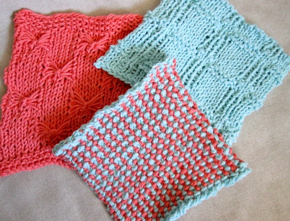 Dishcloth Knitting Pattern Knit Washcloth Pattern Knit