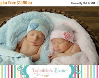 SALE TWIN NEWBORN Hats, twin baby hats, twin photo prop, twin newborn sets, baby twin hats