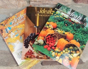 Vintage Thanksgiving Holiday Ideals Magazines Set of 3 Includes US Shipping