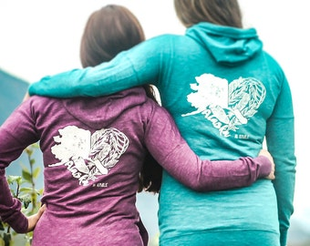 Alaska Heart Feather Zip Up