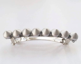 Silver Gray Spike French Barrette, for parties, fun, fashion, special occasions