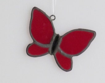 Stained Glass Butterfly (small) Suncatcher
