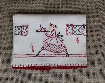 Embroidered Tea Dish towel
