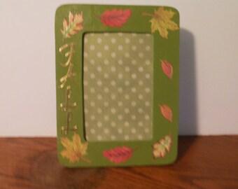 4 x 6 Fall Frame / Leaves Frame / Fall Frame / Handmade Frame /Fall