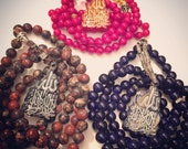 fashion+function | handmade custom stretchy gemstone prayer beads/tasbeehs