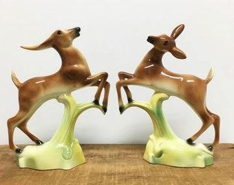 Sale....Vintage Deer & Antelope Statues ~ Stewart Mcculloch California Pottery