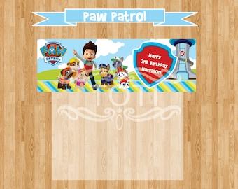 Paw patrol/Favor Bag Toppers [DIGITAL FILE ONLY]