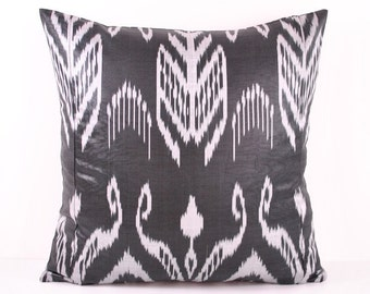 Ikat Pillow, Hand Woven Ikat Pillow Cover A318-2AB3, Ikat throw pillows, Designer pillows, Decorative pillows, Accent pillows