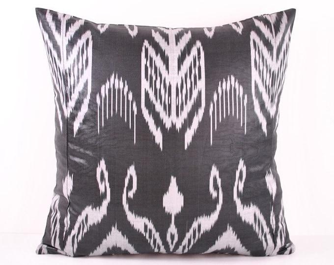 Ikat Pillow, Hand Woven Ikat Pillow Cover A318-2AB3, Ikat throw pillows, Designer pillows, Decorative pillows, Accent pillows