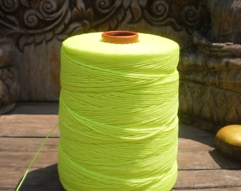 Wax Cotton Cord Neon Yellow 100 Metres (109 Yards)