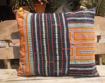 Hmong Vintage Textile Cushion Cover