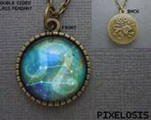 Leo Zodiac Necklace, Leo Constellation Necklace, Zodiac Symbol, Astrology Jewelry, July August Birthday Gift, Lion Star Sign, Zodiac Jewelry