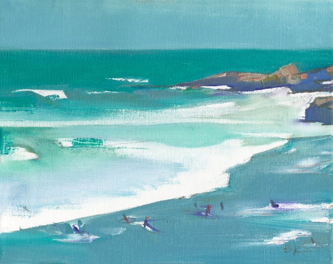 "Beach Decor ""Surfers"" Oil Painting by B. Kravchenko for SEASTYLE"