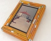 Manhattan Beach Pier - California Art - Upcycled pencil frame - original - surf decor