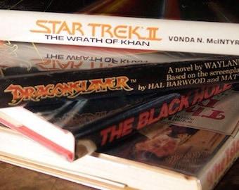 "Sci Fi Film Book Bundle: Star Trek ""Kahn"", Dr. Moreau, Black Hole, Dragonslayer Hardcovers w- Jackets | HG Wells Disney Home Library Set WOW"