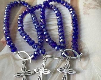 10 Bracelets favors, wedding favors, baptism favors, communion favors, anniversary favors,religious favors,rosary favors,Crystal bracelets