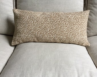 Designer Animal Print Chenille Pillow COVER - Cheetah Leopard