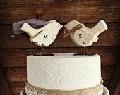 Love Birds Cake Topper / Wooden Cake Topper / Wedding Cake Topper / Rustic Bird Cake Topper