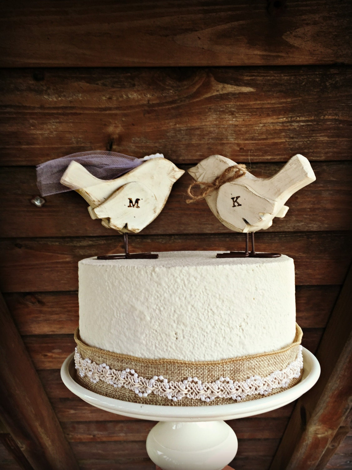 love bird wedding cake topper birds cake topper wooden cake topper wedding cake 5607