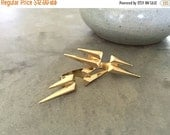 Holiday SALE 50% OFF Double finger Spike ring .... GOLD