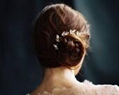 Bridal Headpiece, Crystal Hair Pins, Rhinestone Leaf Bobbie Pins, Set of 5 or 3 -Style 3216