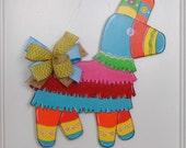 Fiesta Door Hanger, Cinco De Mayo Door Hanger, Summer Door Hanger, Piñata, Mexican Fiesta, Taco Party Decor, Sombrero