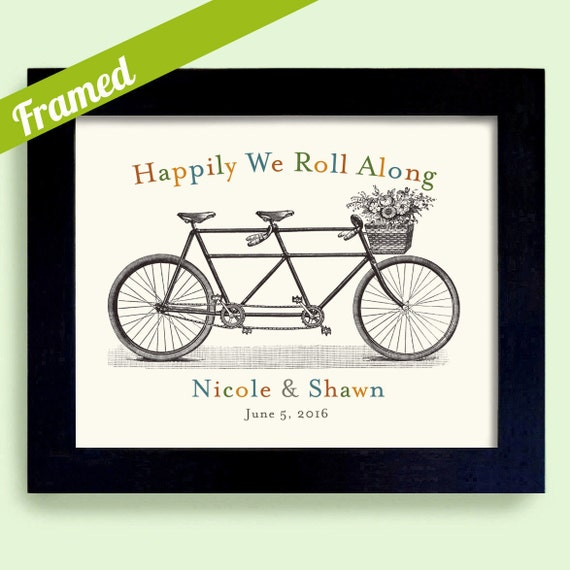 ... Gift Tandem Bicycle Same Sex Wedding Personalized Gay Couple Gift Gay