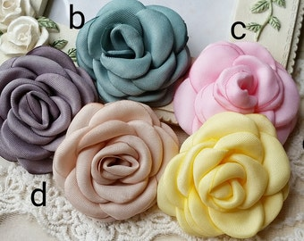4 cm Assorted Colour Satin Rose Flower (t.sm)