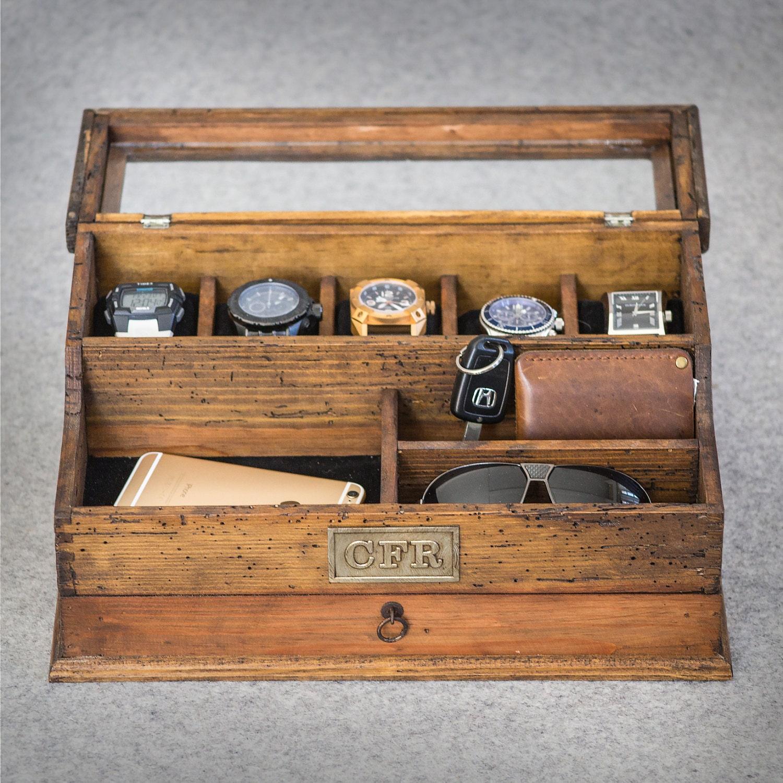 Men 39 S Valet Watch Case Men 39 S Watch Box Valet Box