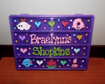 Shopkins Purple Organizer Box and Rainbow Loom Box