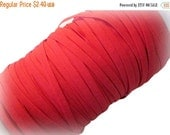 """ON SALE 1/4"""" Red Elastic. 5 Yards"""
