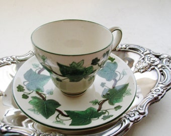 Napoleon Ivy Demitasse Cup and Saucer, Wedgwood, England