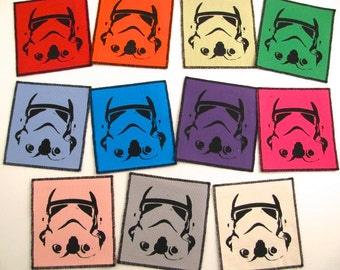 One Storm Trooper patch - you choose color....FREE SHIPPING USA