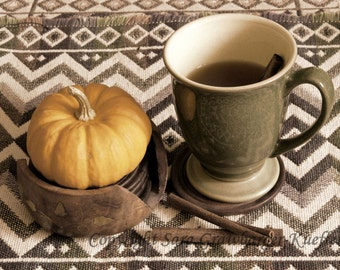 October Tea - Photo Card - Blank Inside